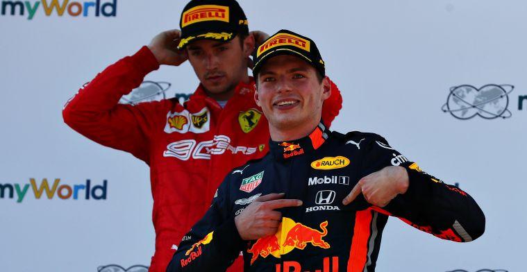 Berger: Voor nu heeft Verstappen een klein streepje voor op Leclerc
