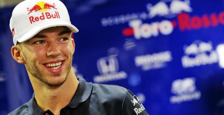 Pierre Gasly voelt zich meer op zijn gemak in de auto van Toro Rosso