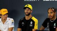 Afbeelding: Norris en Ricciardo kunnen hun lach niet inhouden tijdens persconferentie