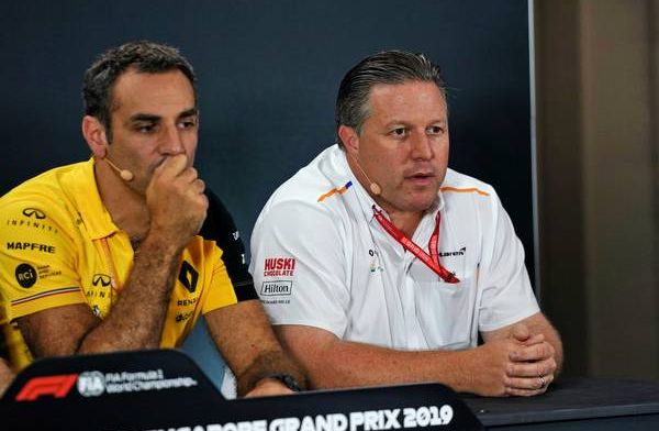 """Zak Brown says """"it's going to be tough"""" for McLaren to hold onto fourth"""