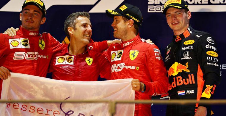F1 WK-stand: Verstappen zakt plekje, in hevig gevecht verwikkeld met Ferrari's