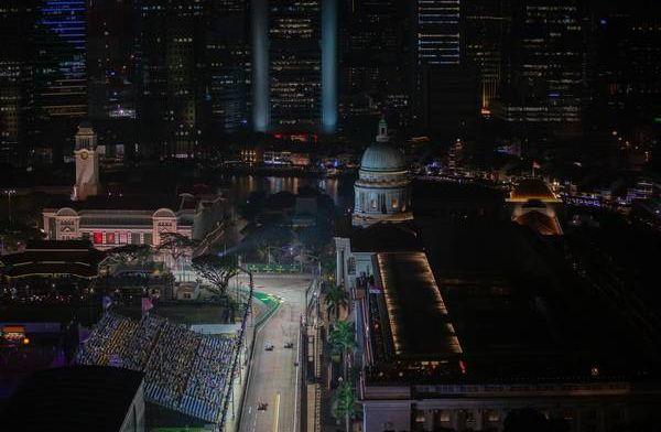 Definitieve startopstelling voor de Grand Prix van Singapore 2019