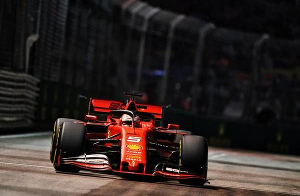 Sebastian Vettel was surprised to come out ahead of Charles Leclerc