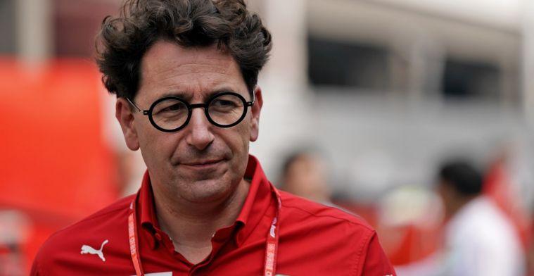 Upgrade volgens Mattia Binotto niet enige reden dat Ferrari sneller was