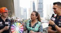 Afbeelding: Max Verstappen en Alexander Albon en 'het wiel der eerste keren' in Singapore!