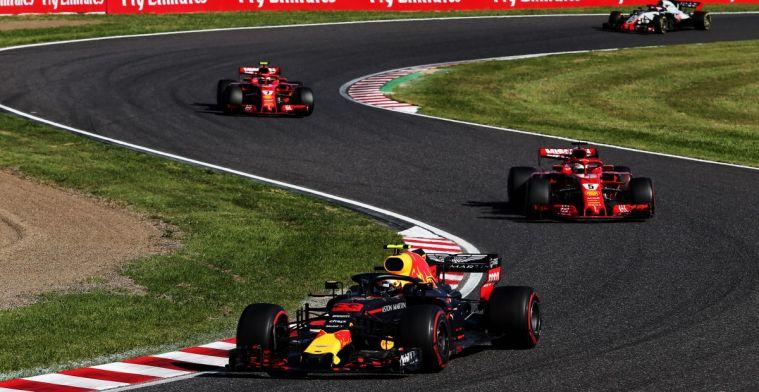 Dit was de race van Verstappen op Suzuka in 2018: Botsen met Ferrari's