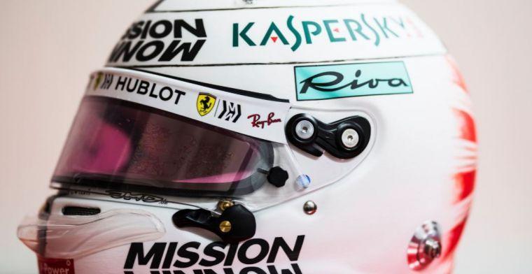 Sebastian Vettel's new helmet for the Japanese Grand Prix