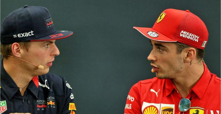 Leclerc is volgens Verstappen beter dan de gemiddelde coureur