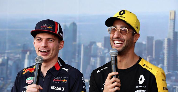 Verstappen vond Ricciardo als teamgenoot 'ideaal': Wil iemand die strijd aan kan