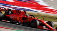 Afbeelding: Vettel valt uit met gebroken wielophanging