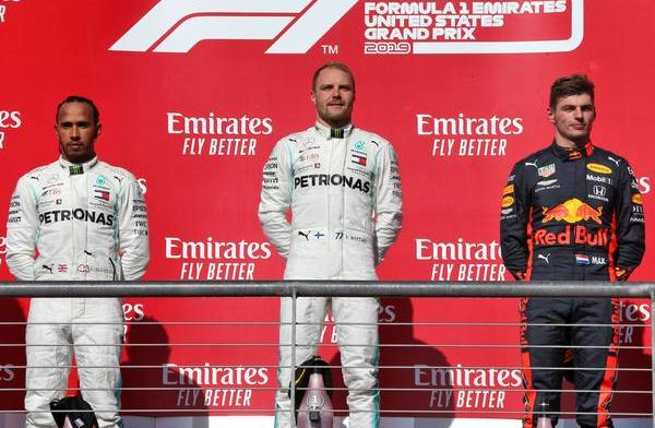 Lewis Hamilton and Max Verstappen embraced after comments during the week