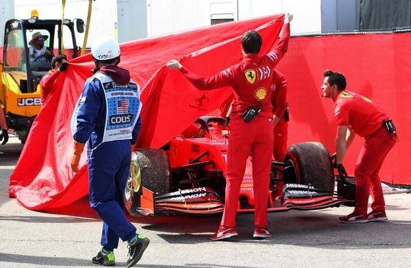 Ferrari to assess the damage caused to Charles Leclerc's engine