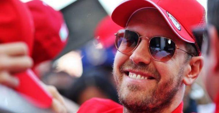 Vettel happy for Hamilton but disappointed Ferrari aren't in contention