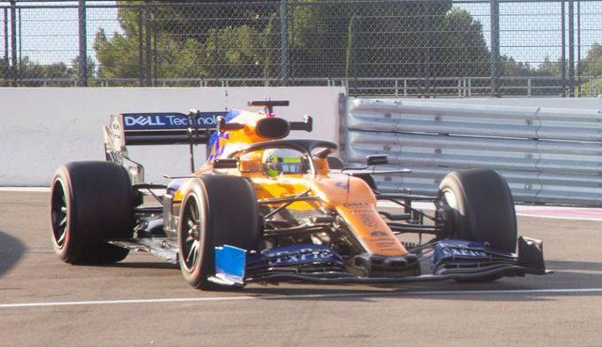 Weer zit mee in Frankrijk: McLaren werkt dik 100 rondjes af tijdens tweede testdag