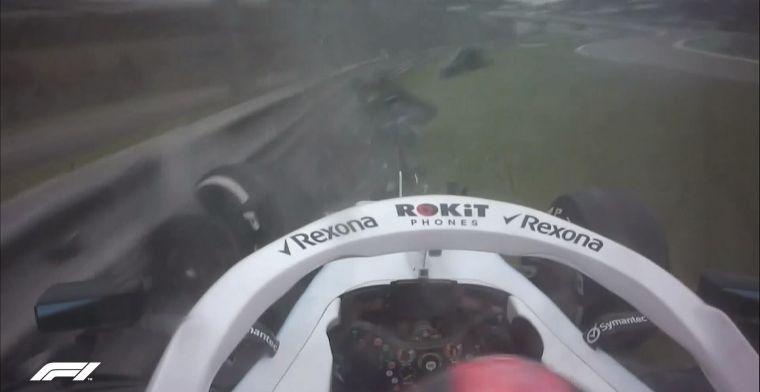 Robert Kubica veroorzaakt vroege rode vlag door crash