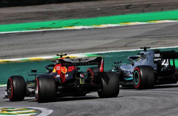 Watch: Alex Albon and Lewis Hamilton collide on last few laps of Brazilian GP!