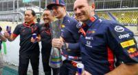 """Afbeelding: Horner over touché Albon-Hamilton: """"Eigenlijk een halve poging van Lewis"""""""