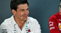 "Image: Wolff can laugh about it: ""Even with the reverse grid, we're still on pole!"""
