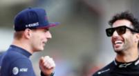 Afbeelding: Verstappen en Ricciardo wisselen helmen uit in Abu Dhabi
