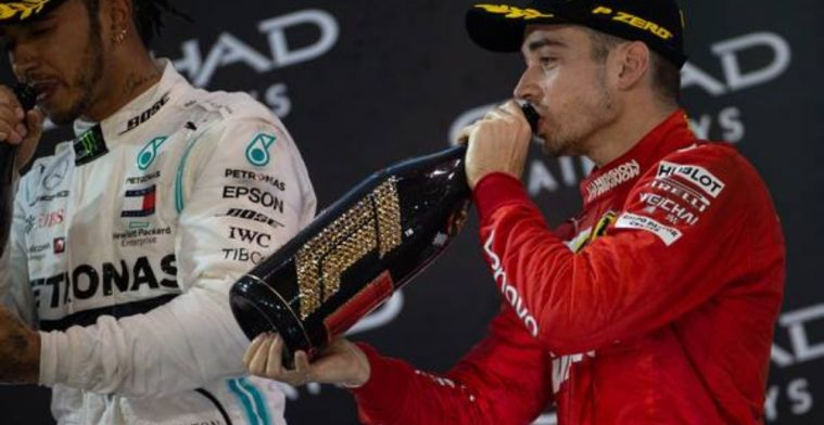 Leclerc opens the Ferrari door for Hamilton