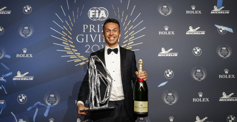 Albon wint 'Rookie of the Year'