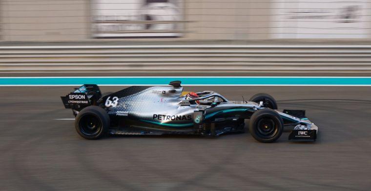 Honderd rondjes verder: Russell voltooit met Mercedes testdag voor 2021-banden
