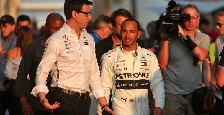 Wolff: Ik zal geen opvolger zoeken voor Lewis voordat er meer duidelijkheid is