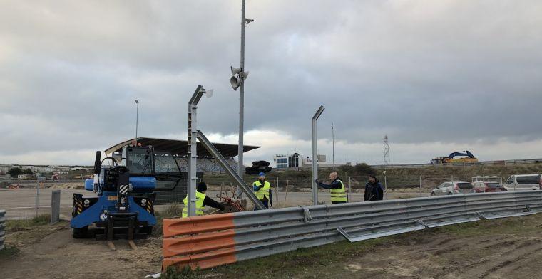 Eerste zichtbare F1 upgrades voor Circuit Zandvoort worden geplaatst