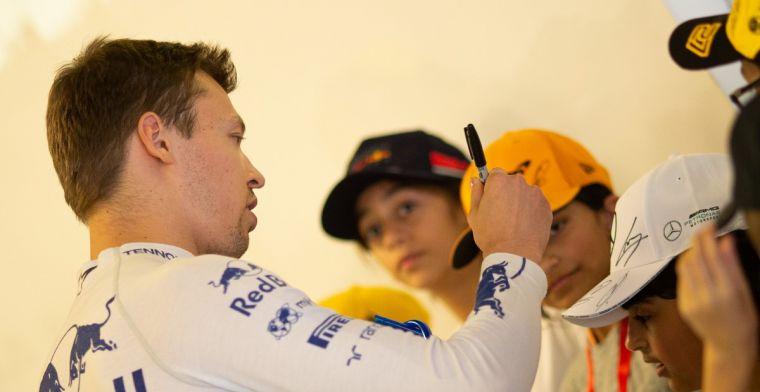 Kvyat ging moe, boos en verdtrietig de laatste Grand Prix van het seizoen in
