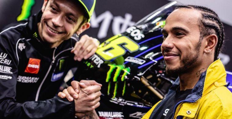 Geen beelden van voertuigruil Rossi-Hamilton: is Monster iets groots van plan?