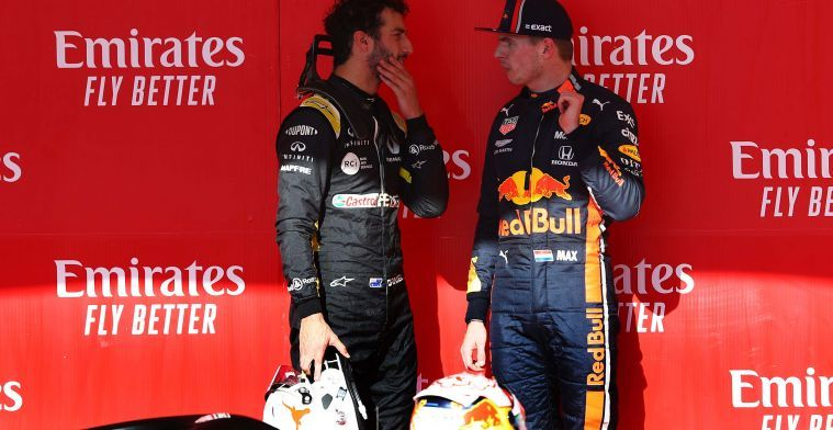 Daniel Ricciardo backs Max Verstappen to become a world champion