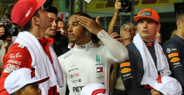 Verstappen naast Hamilton of Leclerc? Denk dat het sowieso niet gebeurt