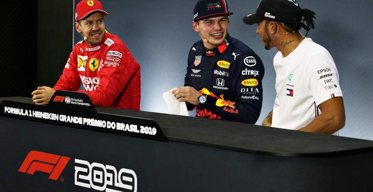 Vettel gaat Verstappen kerstkaart sturen: Krijg denk ik opnieuw geen antwoord