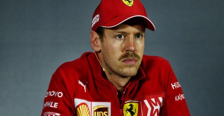 Vettel heeft op kerstfeest Ferrari nog altijd gevoel 'bestolen' te zijn