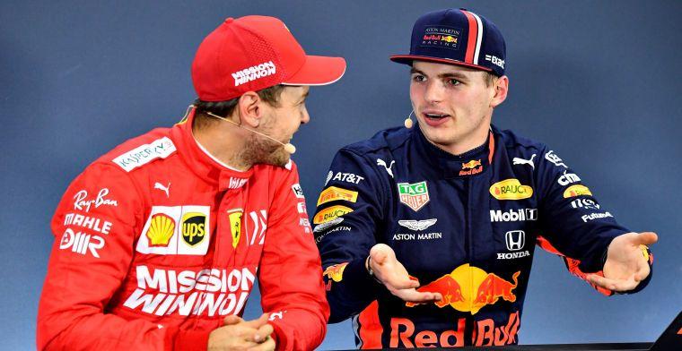 Vettel: Ik ben hier al twaalf keer geweest, Verstappen slechts vier keer