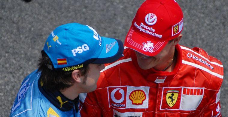 Alonso in vergelijking met Schumacher: Fernando is veel openlijker meedogenloos