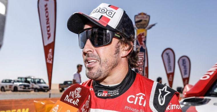 Alonso héél dicht bij eerste overwinning in etappe 8 van Dakar Rally