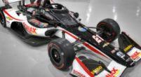 Afbeelding: Relatief weinig Jumbo op de IndyCar-wagen van Rinus van Kalmthout