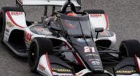 Afbeelding: Van Kalmthout maakt de meeste meters tijdens zijn debuut in de IndyCar