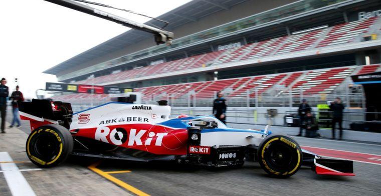 Williams kiest voor zekerheid met coureurs in eerste testweek Barcelona
