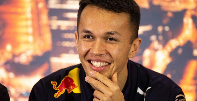 Albon onthult alvast: Verstappen is blij met de RB16