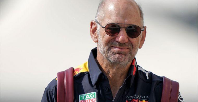 Adrian Newey is al bezig met de Red Bull-auto van volgend jaar
