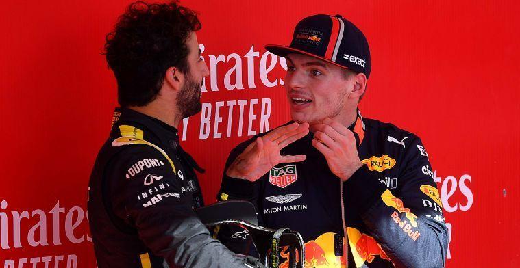Verstappen over overstap Ricciardo: ''Als hij dat kon, was hij veel gelukkiger''