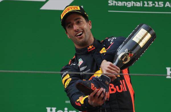 "Daniel Ricciardo misses ""sweaty shoe filled with champagne"""