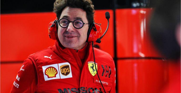 Binotto: De auto is niet competitief genoeg aan het begin van het seizoen