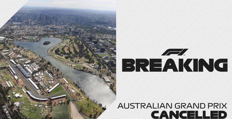 OFFICIEEL: Formule 1 Grand Prix van Australië afgelast wegens coronavirus
