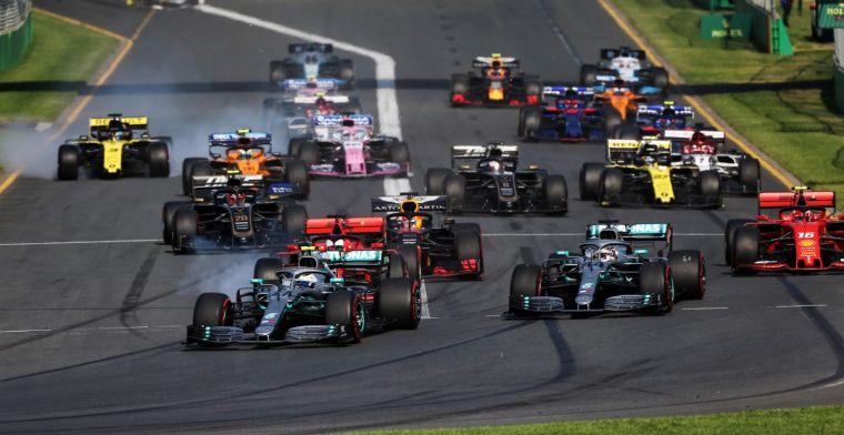 Zo zou F1-kalender 2020 eruit kunnen zien na uitstel van nog eens drie races