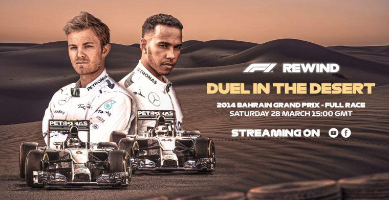 F1 zendt zaterdag opnieuw moderne klassieker uit op Youtube en Facebook