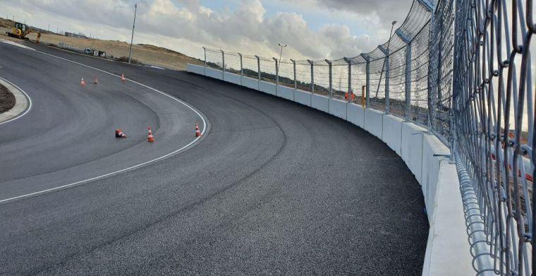 Werk bij Zandvoort gaat door: Racetoren heeft een nieuw kleurtje
