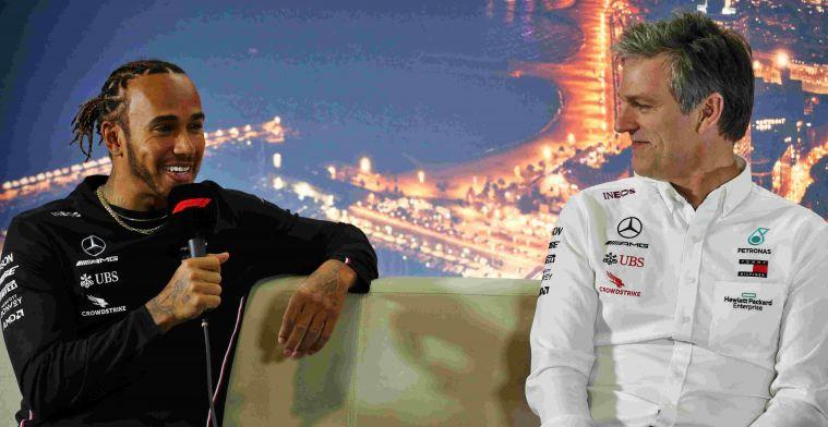 Mercedes trots op Hamilton: Je ziet hem nergens iets vies uithalen op circuit